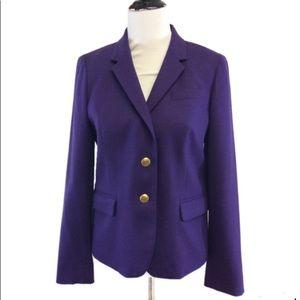 J. Crew Factory Purple schoolboy blazer